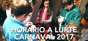 Horarios A LURTE Carnaval 2017